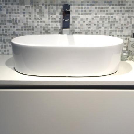 sanitair, waskom, wit, lavabo, badkamermeubel, lavabo hamilton
