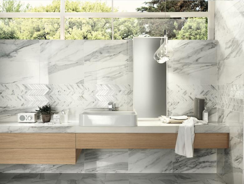 Impermo, goedkope onderhoudsvriendelijke keramische tegel badkamer, moderne badkamer