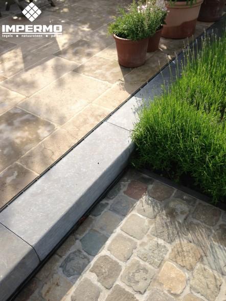 Natuursteen bloktrede - Overdekt terras tegel ...