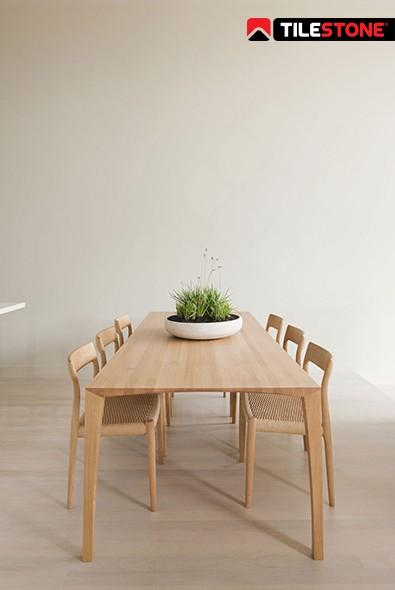 impermo, carrelage prix bas, carrelage effet bois, aspect bois, structure bois, carrelage céramique, salle à manger moderne style scandinave