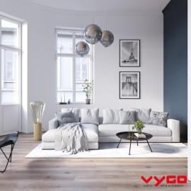 vinyl laminate, wood look, beige, brown, impermo, modern, minimalistisch