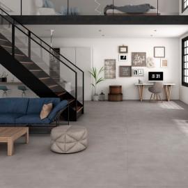 keramische vloertegel, vloertegels, grijs, betonlook, grootformaat, impermo