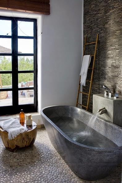 impermo goedkope grijze natuursteenmozaïek in steenstrips voor badkamer