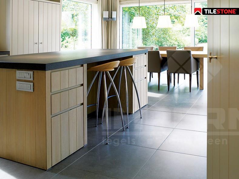 keramische vloertegel, vloertegels, antraciet, massieve tegel, volkeramisch, moderne woning, Tilestone
