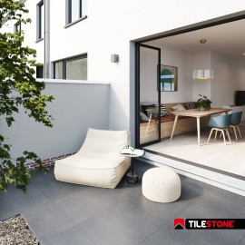 ceramic terrace tile, terrace tiles, grey, tilestone, impermo