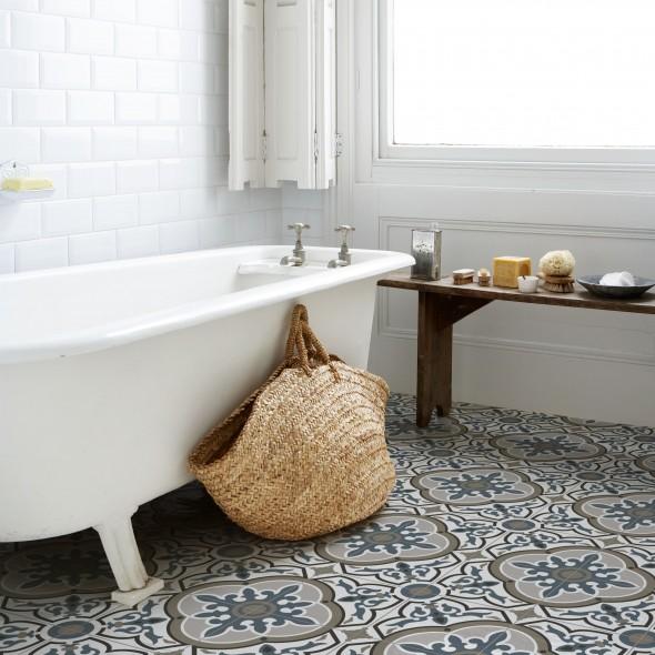 keramische vloertegel, vloertegels, patroontegels, grijsblauw, paul and jane, impermo