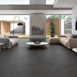 keramische vloertegel, vloertegels, natuursteenimitatie, imitatie leisteen, zwart, impermo