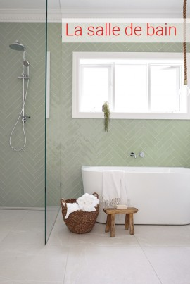 carrelage salle de bains, impermo, carrelage prix bas, carrelage mur, carrelage sol, antidérapant, travertin, pierre naturelle, salle de bains moderne, tabouret, douche à l'italienne